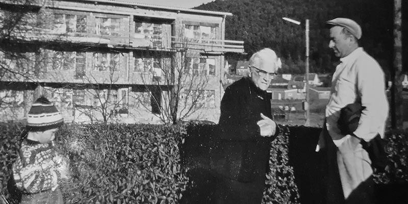Georg Pflug mit Enkel Jörg