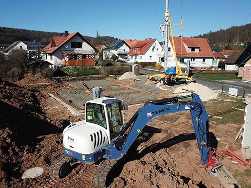 Baustelle in Elben